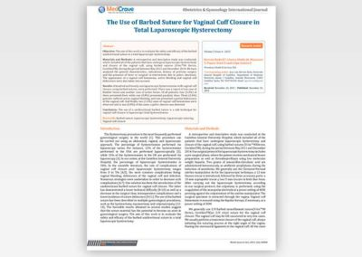 The Use of Barbed Suture for Vaginal Cuff Closure in Total Laparoscopic Hysterectomy