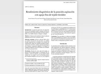 Rendimiento diagnóstico de la punción aspiración con aguja fina de tejido tiroideo